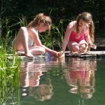 Kindvriendelijke zwemvijver