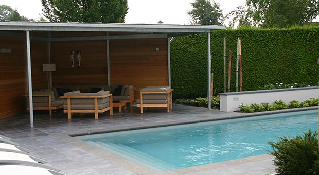 Strak design zwembad tuinontwerpbureau ineke brunekreeft for Zwembad desing