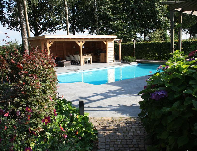 Zwembad met groene omgeving tuinontwerpbureau ineke brunekreeft - Zwembad omgeving ...
