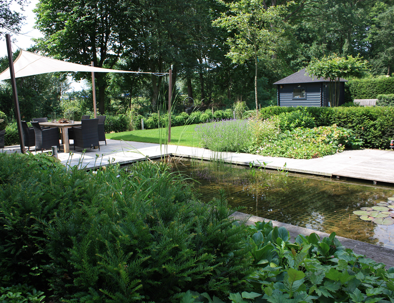 Image from garden - Terras rand idee ...